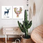 에어퓨리티 항균터치 사슴 4종 인테리어 캔버스