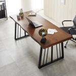 1800 우드슬랩 폭600 책상 컴퓨터책상 테이블