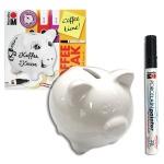 마라부 돼지저금통+도자기마카 DIY 패키지 HF206-1