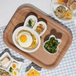 키즈콩 도자기 볼접시+식판 2P세트