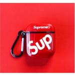 에어팟케이스 1/2 SUP 슈프림 글리터 실리콘 424 레드