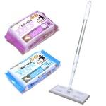 쿠루르 부직포 청소기+정전기청소포120매+물걸레청소포80매