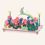 아토페이퍼 하코모쿠미타테가미-꽃밭의 레인보우