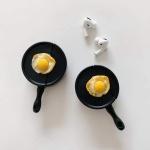 에어팟 1/2/프로/프라이팬 달걀후라이 실리콘 케이스