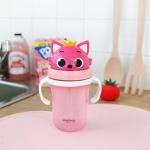 핑크퐁 입체 빨대컵