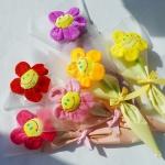 스마일꽃인형 꽃다발 한송이 6color 스마일인형