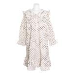 [쿠비카]라운드 도트 프린팅 원피스 여성잠옷 W688