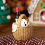 데꼴 크리스마스 와인바구니 피규어