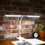 독립 듀얼 LED스탠드+클램프 LLS-DC08 무드등 2400LUX 밝기