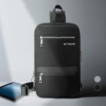 [DICUBO]지퍼 폭 확장 USB차징 슬링백 DACT XB01210