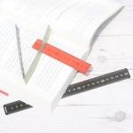 책갈피 겸용 25cm 눈금자-나카바야시 마그네틱 북마크 HF373