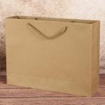 무지 가로형 쇼핑백(브라운)(30x25cm)