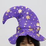고급 마법사 모자 (퍼플스타)