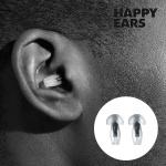 [소음차단 귀마개] HAPPYEARS 이어플러그(L)+파우치증정