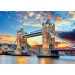 1000피스 직소퍼즐 - 런던 타워 브릿지의 황홀한 석양