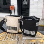 바코드 셀린 캔버스 숄더백 크로스백 천가방