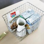 메탈 주방 욕실 수납 정리 정리함 바스켓 바구니 (소)