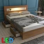모델하우스 LED조명 서랍 침대 퀸 KC147