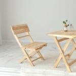 [벤트리] 원목 접이식 미니 카페의자