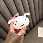 에어팟케이스 1/2 캐릭터 실리콘 스트랩 437 흰둥이