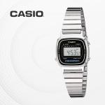 카시오 빈티지 메탈 전자 여성 손목시계 LA670WA-1