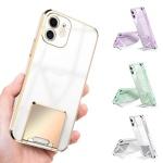 아이폰12 11 pro max 컬러 라인 거치대 투명 폰케이스