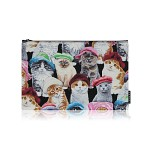 nother Cats in Hats Pouch / 나더 고양이 패턴 파우치 (Large)