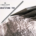 [CARAN DACHE] 바디 전체가 흑연으로 구성된 통심..까렌다쉬 천연 흑연연필 그라프스톤 PURE 780