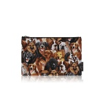 nother Dog Natural Pouch / 나더 강아지 패턴 파우치 (Medium)