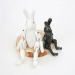 목각 토끼인형-일본수제공예품