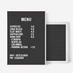 A3 블랙 레터보드 DIY 세트 - 화이트,그레이Frame