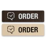 안내표지 표지판 표시판 알림판 표찰 주문-ORDER 우드