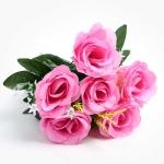 장미 조화꽃 6개입 (핑크)