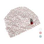 [디꾸보]잔꽃 패턴 나뭇잎 패치여성 두건모자 AC511R