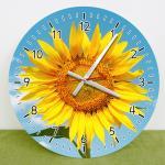 cd324-푸른하늘해바라기_인테리어벽시계