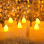 LED티라이트 리모컨 온오프 [캔들10개+리모컨] 황색등