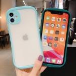 아이폰 SE2 8 8+ 7 컬러라인 범퍼 반투명 하드 케이스
