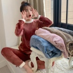 메리핀 밍크 기모 수면잠옷세트