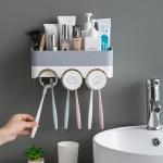 [욕실꿀템] 우리가족 칫솔꽂이 양치컵세트 3color