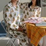 (자체제작)요루면 커플잠옷 파자마세트 순면 홈웨어