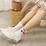 여자 패션 체리 양말 4color 갓샵 핵인싸템 과일 삭스