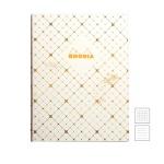 [로디아] 헤리티지 노출바인딩 노트 19x25 까뜨리유 화이트 (줄지/격자)