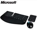 마이크로소프트 무선 마우스 + 무선 키보드 Set Sculpt Ergonomic Desktop (팬터그래프 / 원터치 Hot Key / 바탕화면 이동 버튼 / 인체공학적 설계 / 분리형 키패트 / 블루트랙 테크놀러지 / 4D 스크롤 휠)