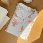모찌 모달 소재 잠옷 파자마 오렌지 홈웨어
