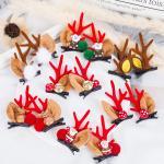 돌프 크리스마스 루돌프 뿔 머리핀 헤어핀 집게핀