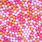 막막담아 핑크각진구슬_500p (해외배송 가능상품)