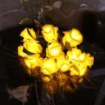 옐로우 타이니 로즈 부케 LED 조명
