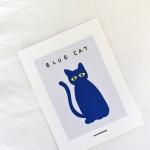 [카멜앤오아시스] Blue Cat 고양이 일러스트 엽서