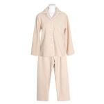 [쿠비카]레이스 파이핑 양털 투피스 여성잠옷 W700