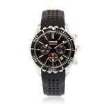 [레노마] 다이버 손목시계(200M 방수) 블랙 RE-550BK